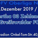 FC Hertha 03 Zehlendorf vs. Greifswalder FC am 8.12.2019