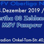 FC Hertha 03 Zehlendorf vs. MSV Pampow am 14.12.2019