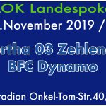 FC Hertha 03 Zehlendorf vs. BFC Dynamo am 15.11.2019
