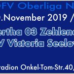 FC Hertha 03 Zehlendorf vs. SV Victoria Seelow am 10.11.2019