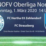 FC Hertha 03 Zehlendorf vs. FC Strausberg am 1.3.2020