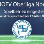 NOFL Oberliga Nord Spielbetrieb vorerst eingestellt