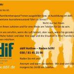 Reden hilft! ddif Hotline das Deutsch-Dänische Institut für Familientherapie