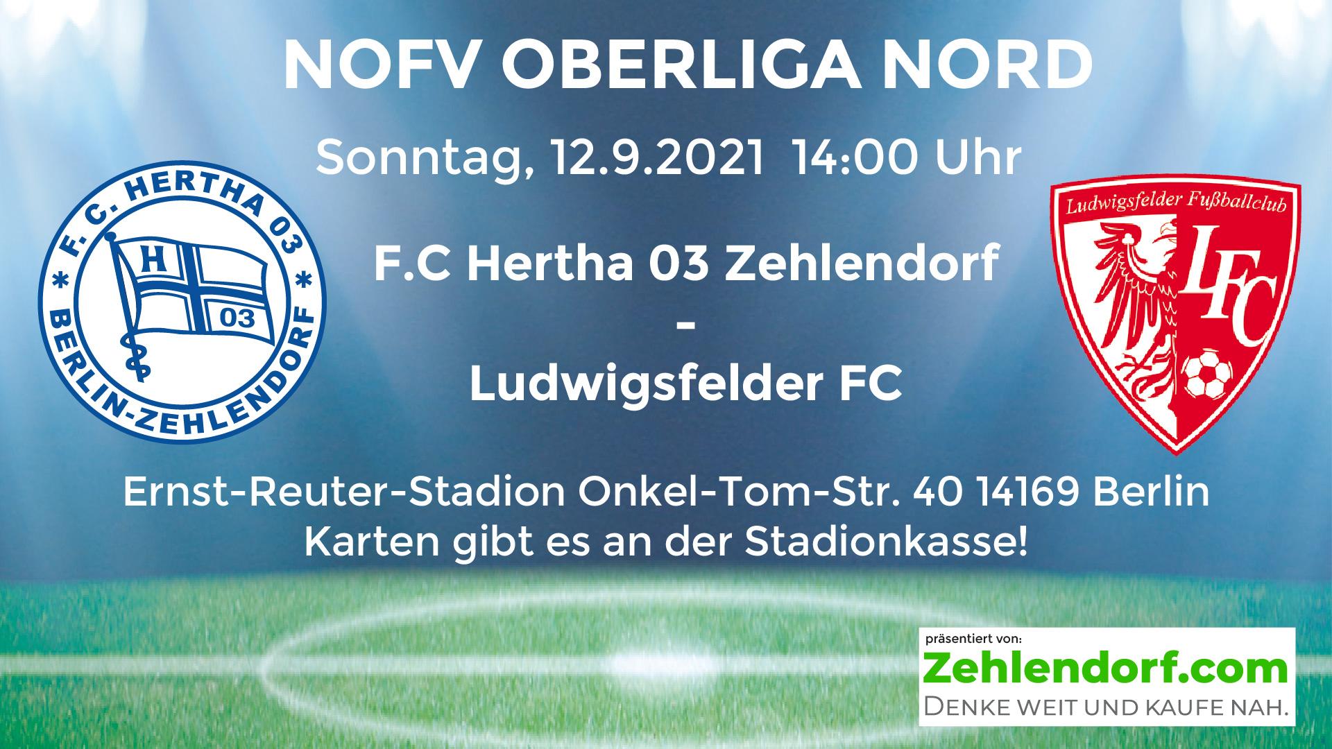 F.C. Hertha 03 Zehlendorf vs. Ludwigsfelder F.C. am 12.9.2021