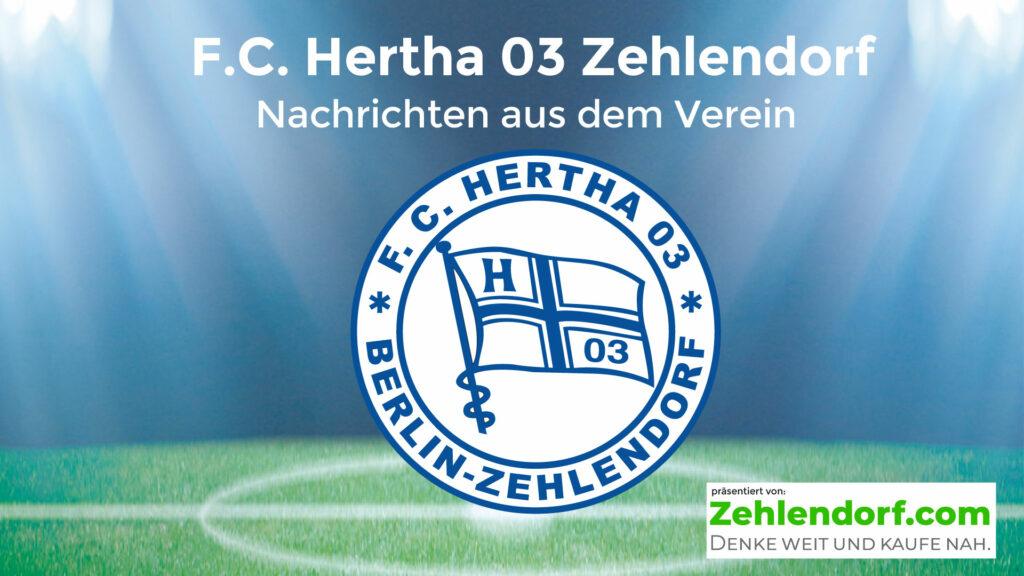 Hertha 03 und zehlendorf.com starten die nächste Runde!